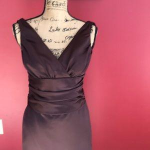 Elegant chocolate brown evening dress!